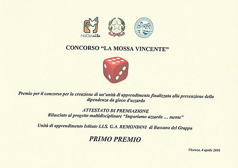"""Diploma del Concorso """"La mossa vincente"""""""