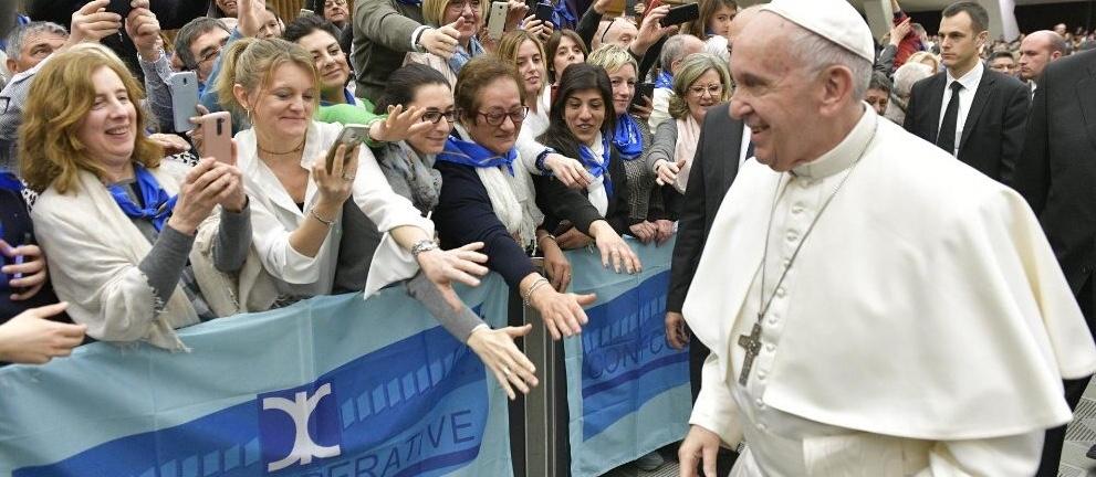 Udienza del Papa in Vaticano per i 100 anni di Confcooperative