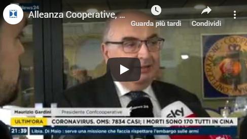 RAI NEWS 24 ore 21:35 Intervista a Maurizio Gardini presidente nazionale Confcooperative